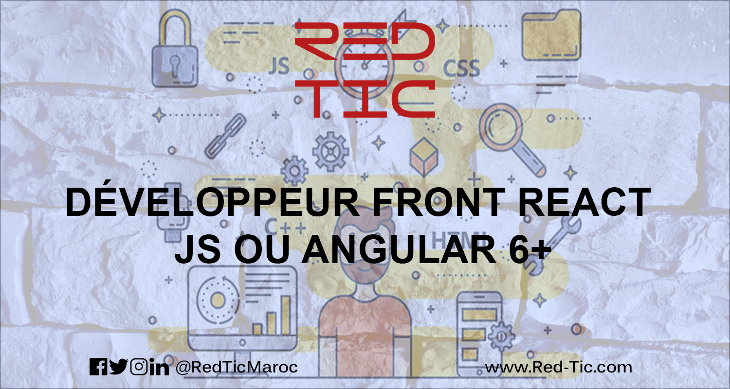 DEVELOPPEUR FRONT REACT JS OU ANGULAR 6+