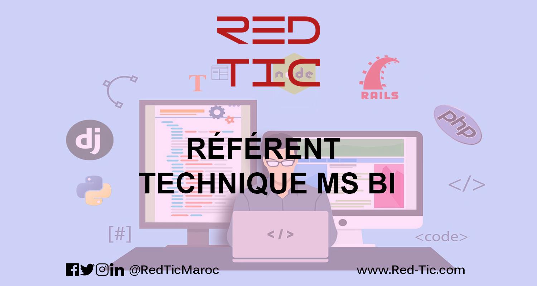 RÉFÉRENT TECHNIQUE MS BI (4 ANS D'EXPÉRIENCE)