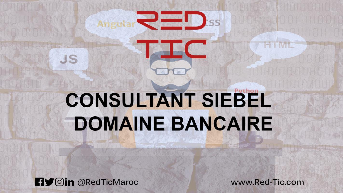 CONSULTANT SIEBEL – DOMAINE BANCAIRE