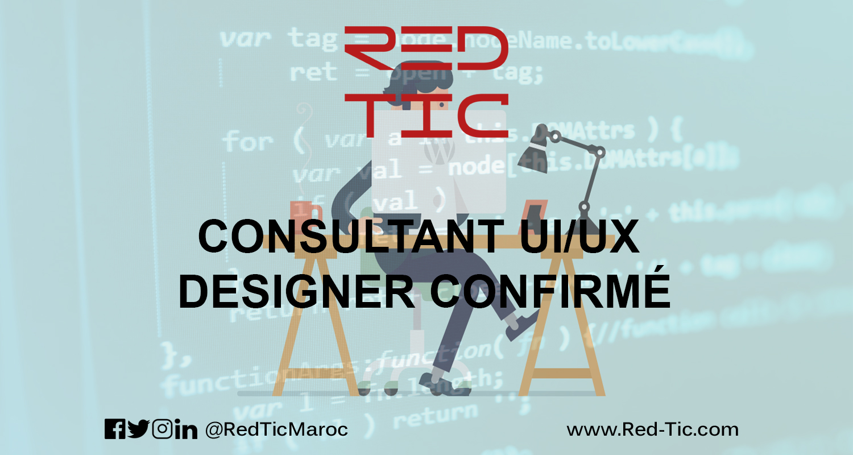 CONSULTANT UI/UX DESIGNER CONFIRMÉ