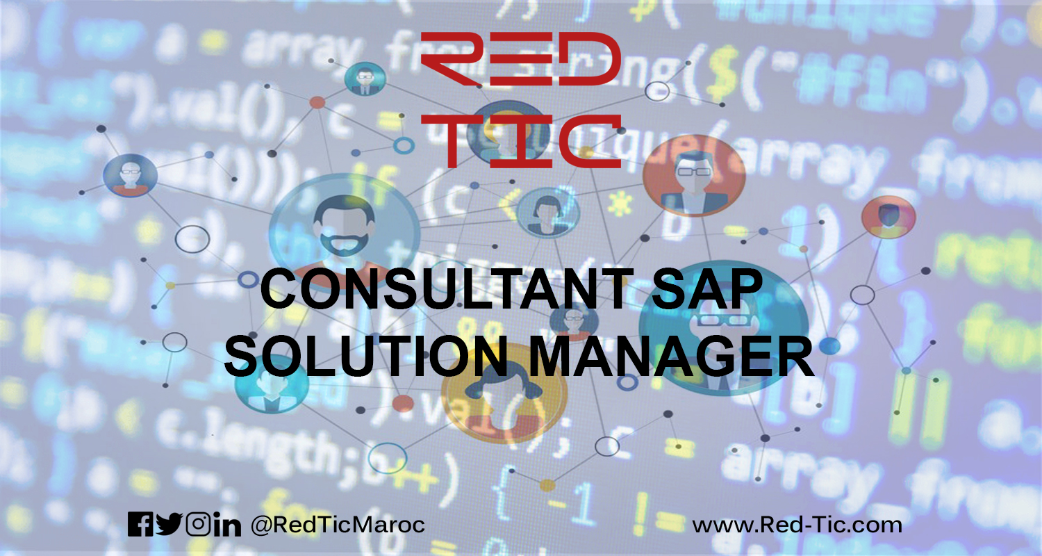 CONSULTANT SAP SOLUTION MANAGER