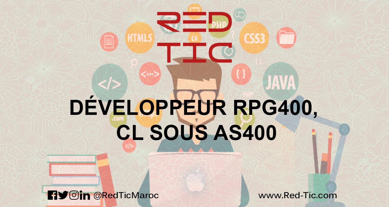 DÉVELOPPEUR RPG400, CL SOUS AS400
