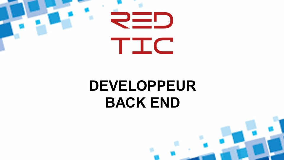 DEVELOPPEUR BACK END