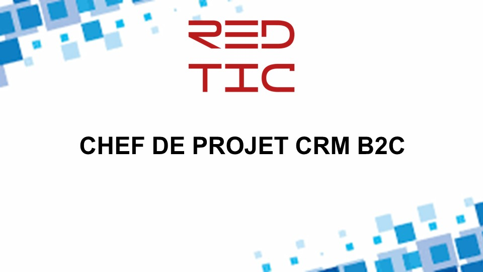 CHEF DE PROJET CRM B2C