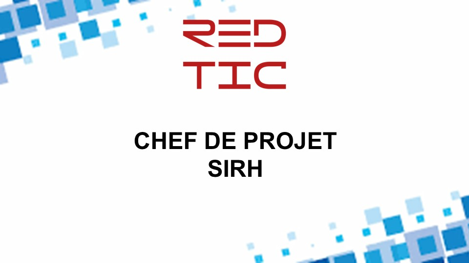 CHEF DE PROJET SIRH