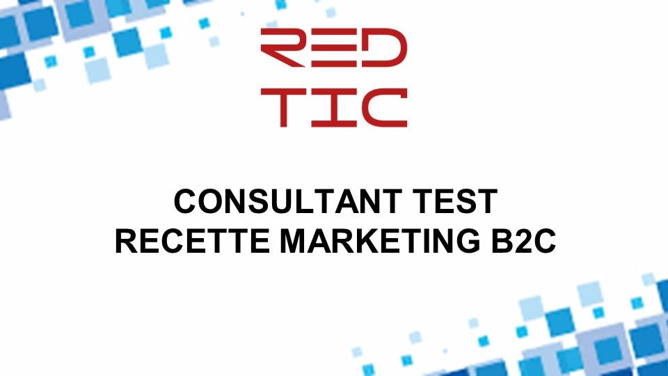 CONSULTANT TEST RECETTE MARKETING B2C