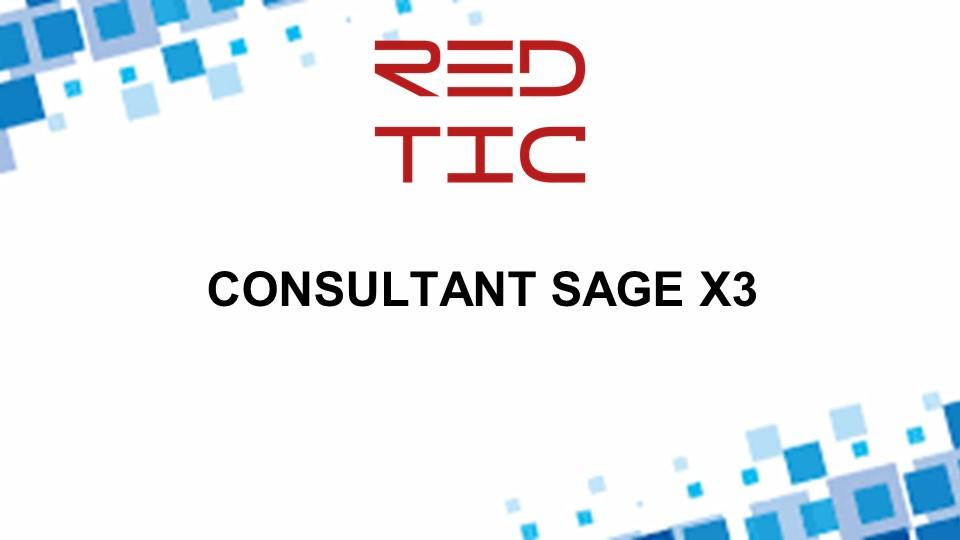CONSULTANT SAGE X3