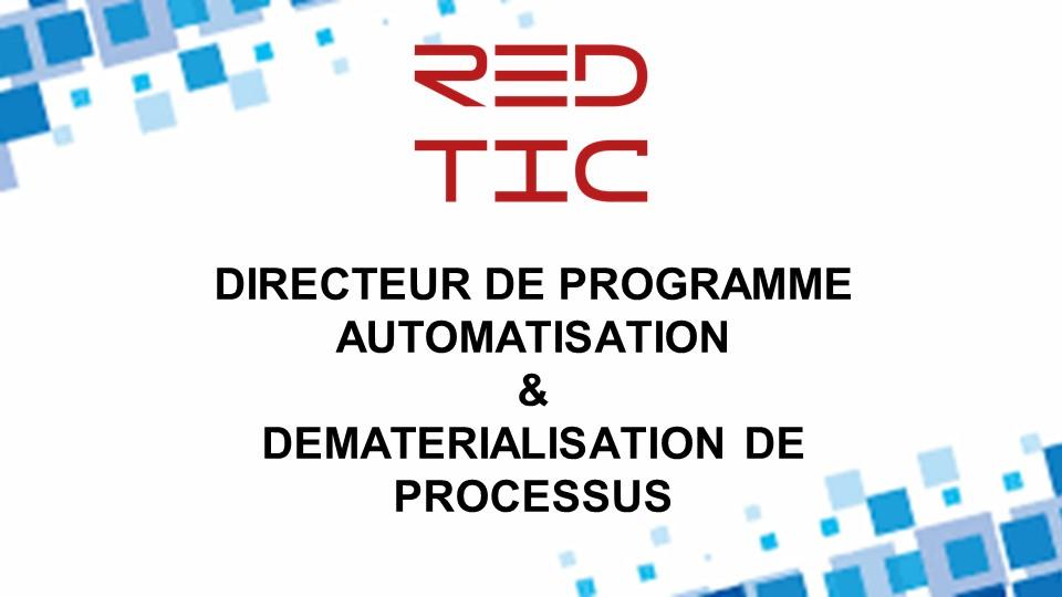 DIRECTEUR DE PROGRAMME AUTOMATISATION & DEMATERIALISATION DE PROCESSUS