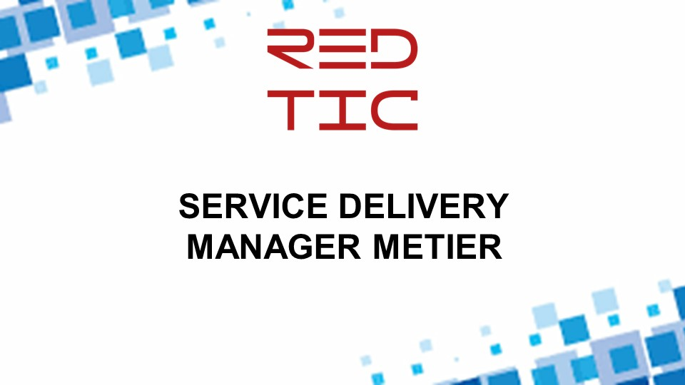 SERVICE DELIVERY MANAGER METIER