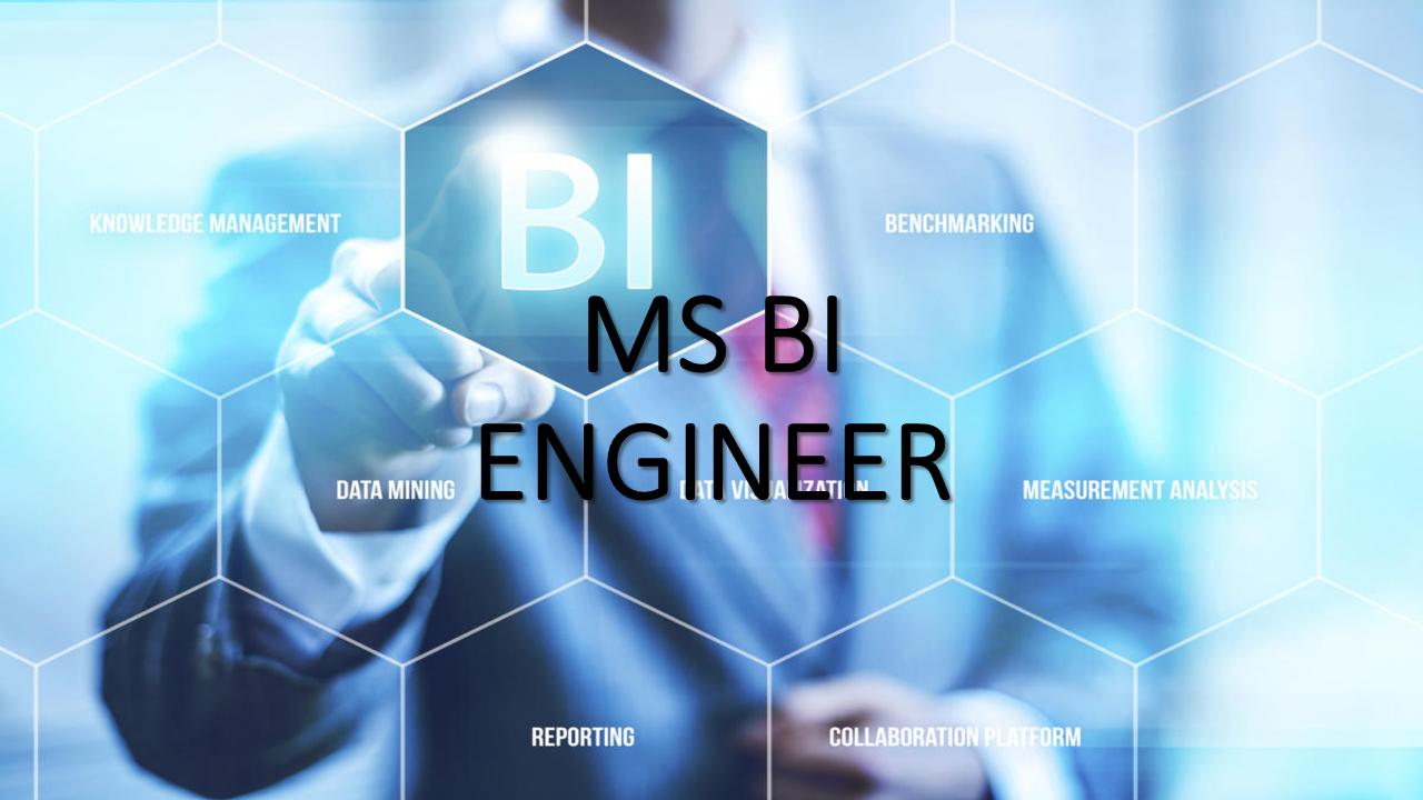 MS BI ENGINEER